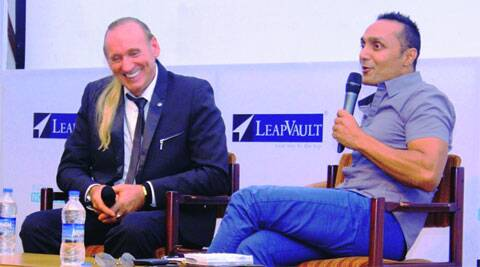 Gregory David Roberts and Rahul Bose at the festival last year.