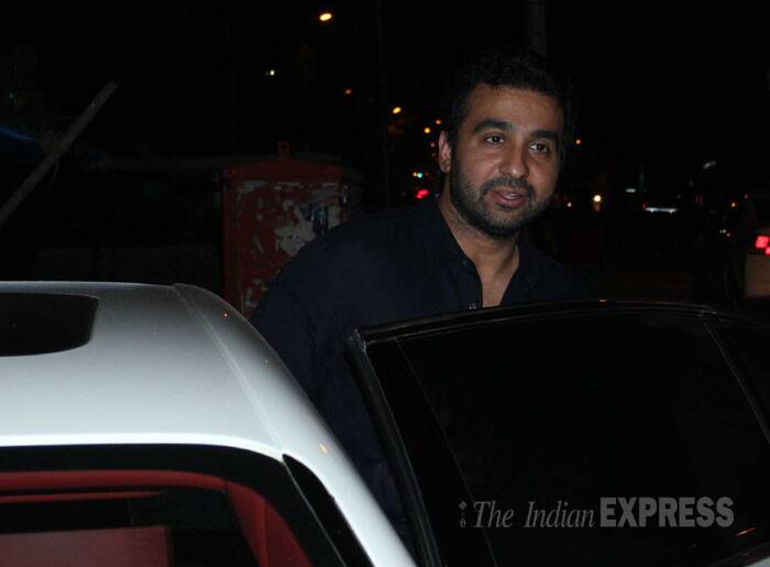 Raj Kundra makes a quick exit. (Photo: Varinder Chawla)