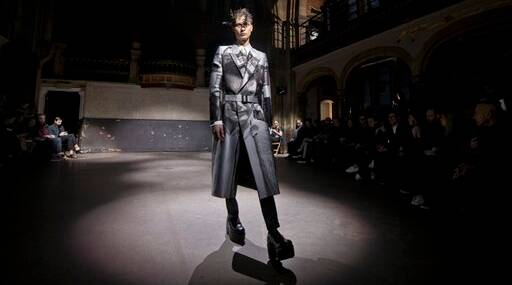 APTOPIX Britain Fashion London Men Collections: Alexander McQueen