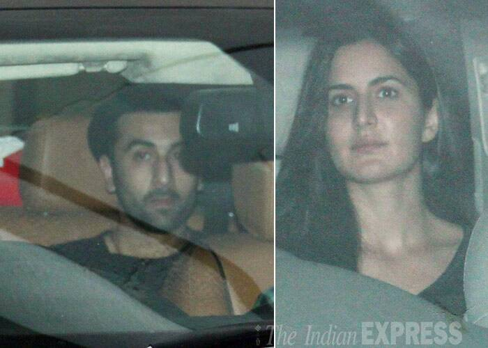 Lovebirds Ranbir Kapoor and Katrina Kaif, who are not on talking terms with each other following their spat in New York, were spotted arriving separately at a special bash hosted by Aamir Khan in Mumbai on Thursday (January 30).  (Photo: Varinder Chawla)