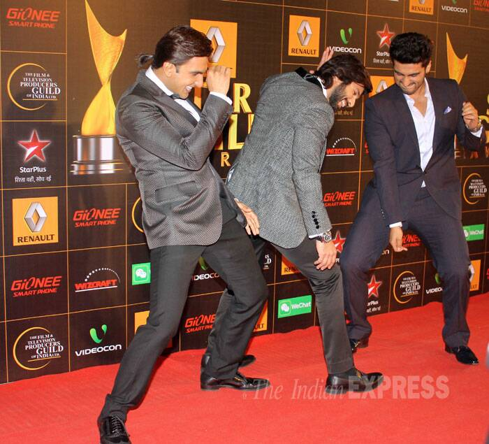 And when there's Ranveer... there's gotta be some masti. Shahid, Arjun and Ranveer are masala entertainers. (Photo: Varinder Chawla)