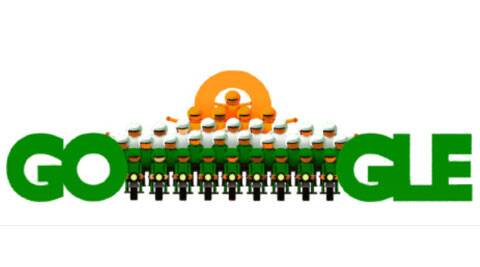 Google doodle depicts the grand parade that forms a major part of the Republic Day.