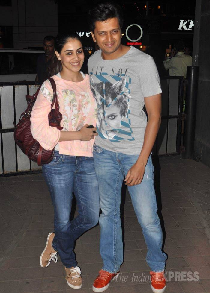 Bollywood couple Genelia and Riteish Deshmuhk look super-cute together. (Photo: Varinder Chawla)