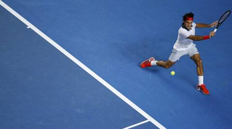Roger Federer hits a return to Blaz Kavcic during his second round singles match in Melbourne. This was the first time in 16 years that the Swiss was sidelined to the show court (Reuters)