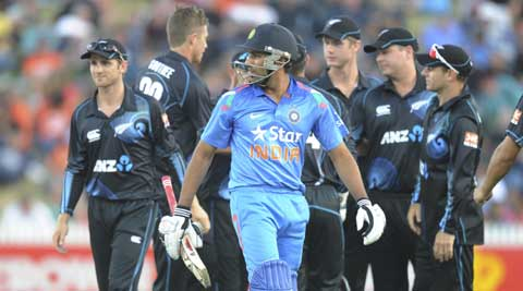 Dhoni praised New Zealand bowlers for their impressive show (AP)