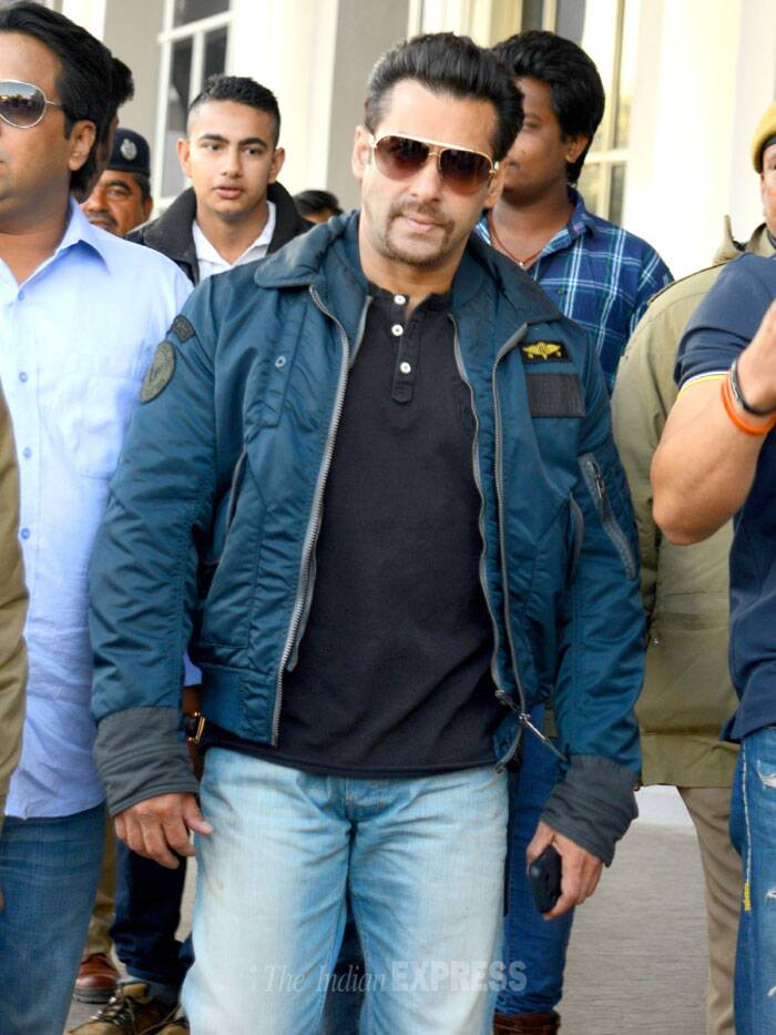 Bollywood superstar Salman Khan is in Jodhpur to record his statement in a sessions court in connection with the Chinkara poaching case. (Image courtesy: Mohammed Sharif)