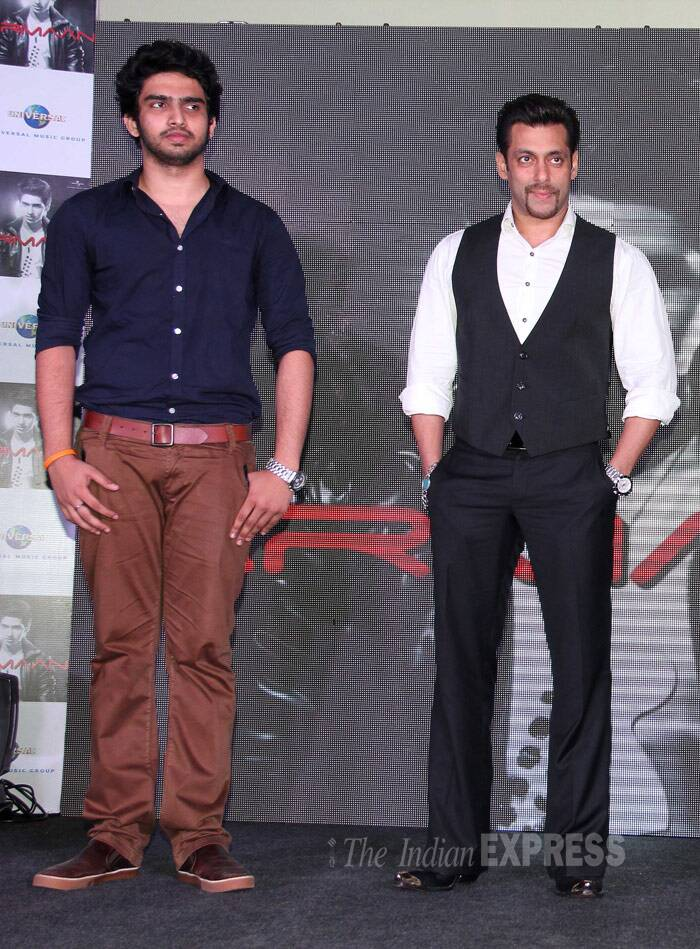 Salman Khan had said that he would like to promote youngsters and newcomers. Seen here with singer Armaan's brother Amal Malik. (Photo: Varinder Chawla)