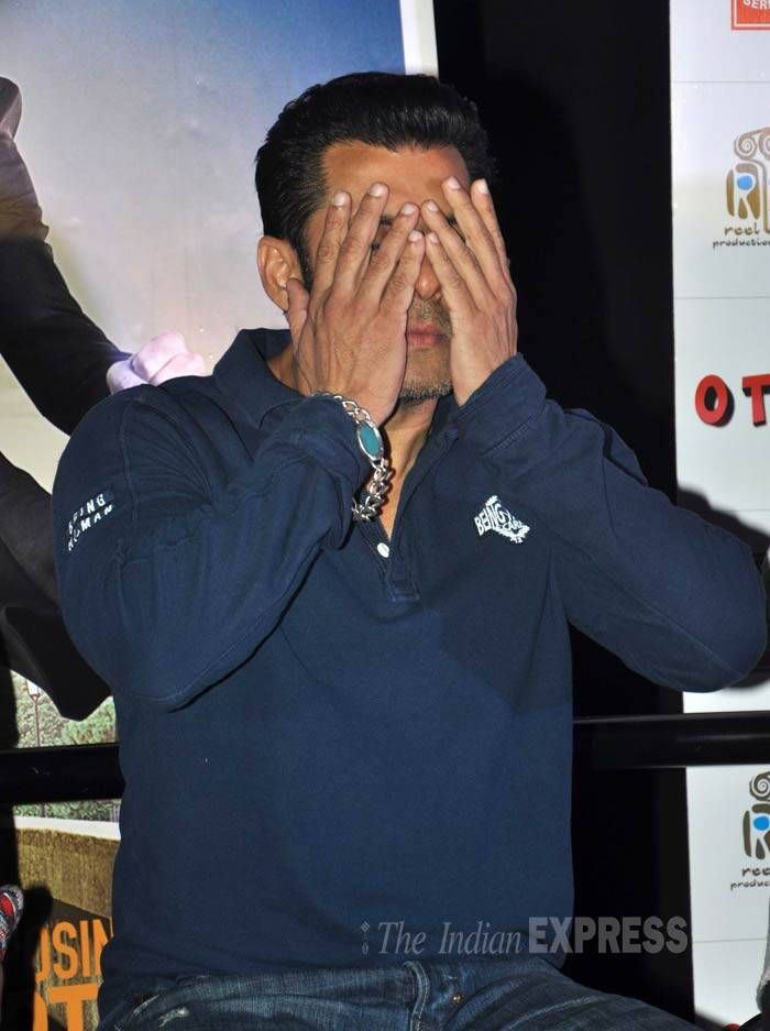 Salman, who has been busy with promotions for 'Jai Ho', looks exhausted. (Photo: Varinder Chawla)