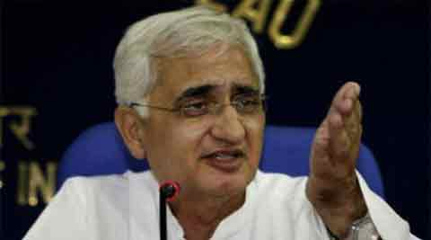"Salman Khurshid was responding to a query on Salman Khan meeting Modi in Ahmedabad and flying kites with him at the annual Kite Festival to mark ""Makar Sankranti"". (Reuters)"