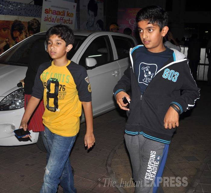 Salman Khan's nephews also came especially to see their superstar uncle onscreen. (Photo: Varinder Chawla)
