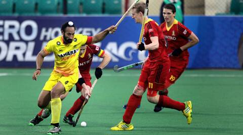 India skipper Sardar Singh (IE Photo Ravi Kanojia)