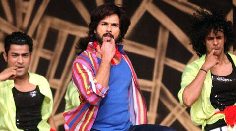 The actor was full of enery as the crowd cheered him throughout the performance.