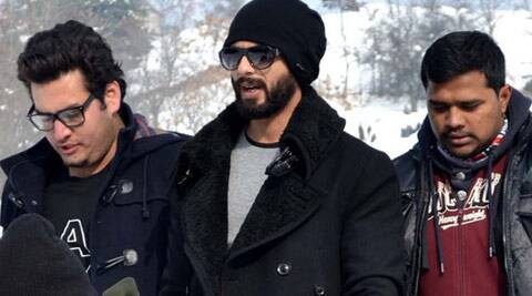 Local residents started hurling snowballs at the crew of 'Haider' -- Bollywood adaption of Shakespearean play Hamlet -- when they were shooting some sequences at Keribal area of Anantnag district. (IE Photo: Shuaib Masoodi)