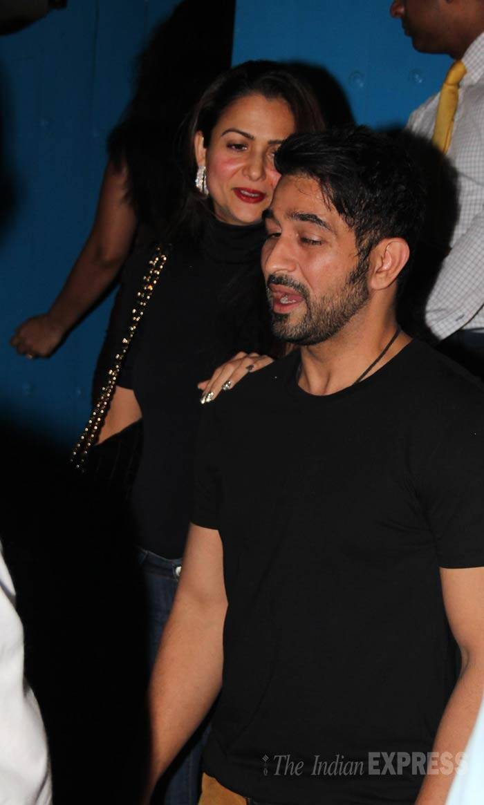 Her sister Amrita Arora was also present along with her husband Shakeel Ladak. (Photo: Varinder Chawla)