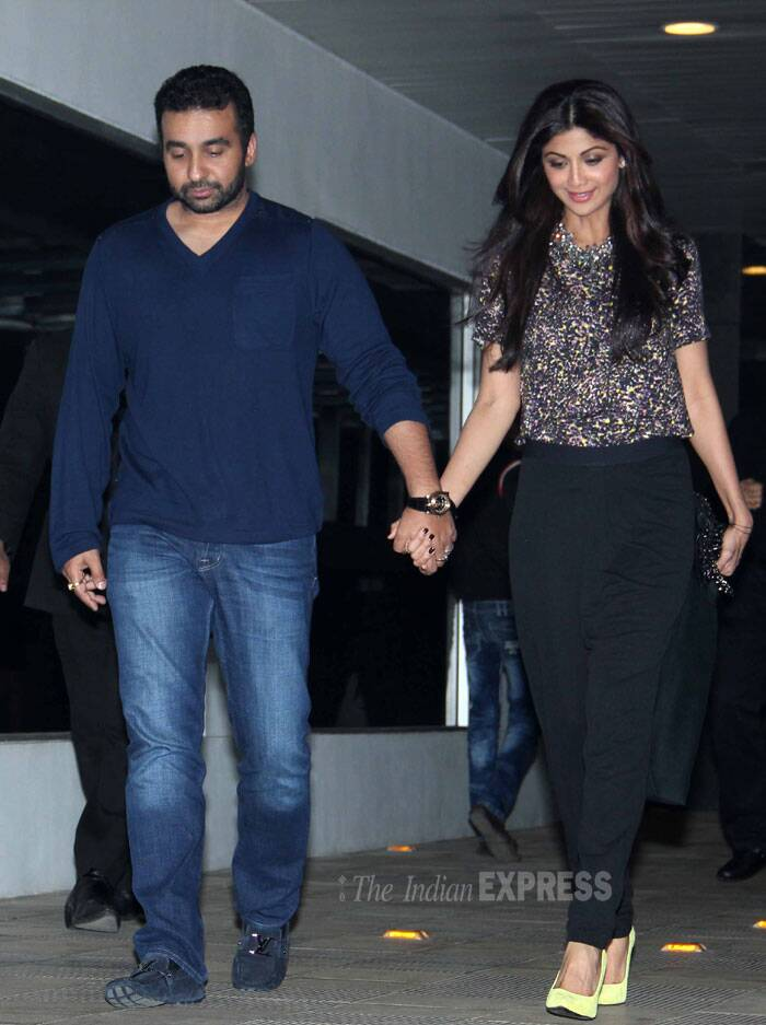 Meanwhile actress-filmmaker Shilpa Shetty was spotted in Mumbai with her husband Raj Kundra. (Photo: Varinder Chawla)