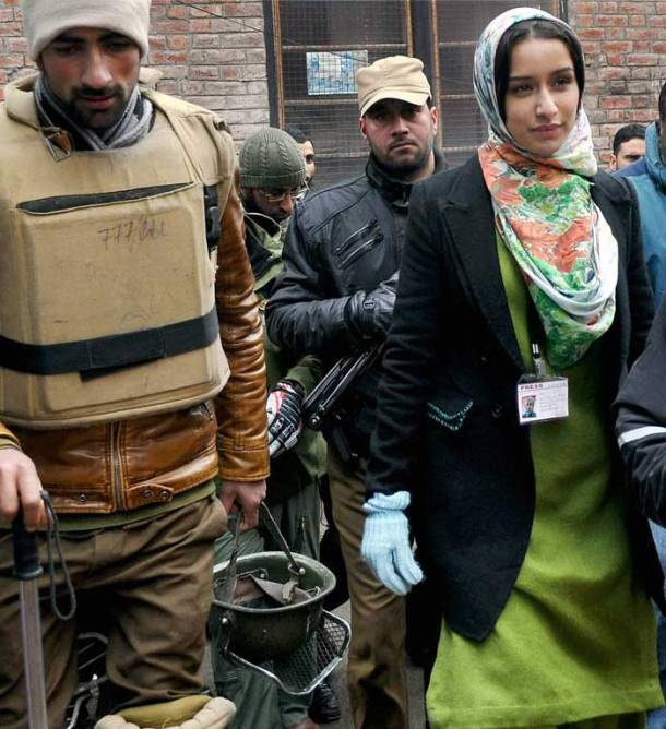 Irrfan, Shraddha Kapoor shoot 'Haider' in Kashmir