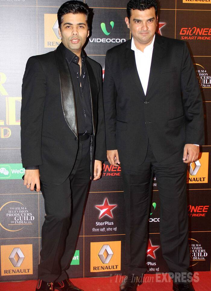 Men In Black: Karan Johar and Siddharth Roy Kapur. (Photo: Varinder Chawla)