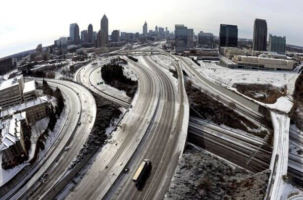 Ice storm freezes tropical South US