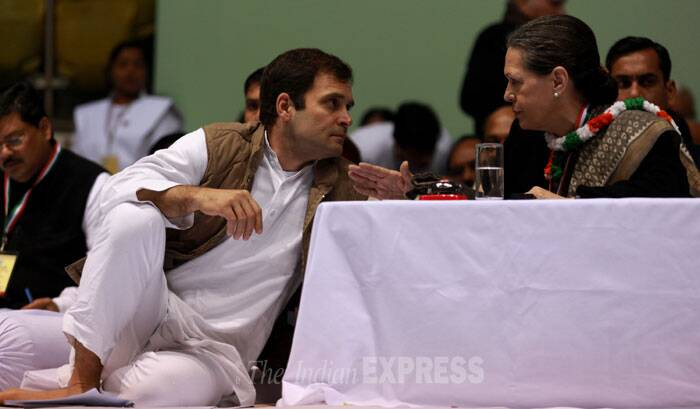 The resolution's phraseology was almost similar to the one adopted by the Congress at the Shimla Conclave in 2003 when the party shed its reservation to coalition politics. Congress had then called for unity of secular forces. (IE Photo: Renuka Puri)