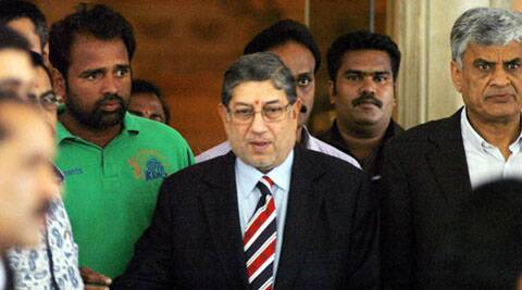 N Srinivasan couldn't attend the BCCI meeting on Thursday, but the proposal to create the BCCI-CA-ECB nexus was his (File/PTI)