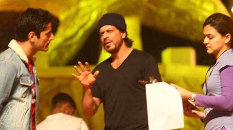 Shah Rukh Khan is busy with rehearsals for the 20th Annual Life OK Screen Awards. (IE Photo)