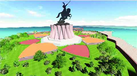 The planned Shivaji statue to be 190 metres tall and may cost over Rs 1,000 crore. IE