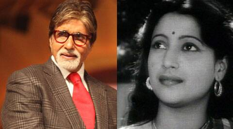 Amitabh Bachchan, 71 took to Twitter to pay his tribute to legendary actress Suchitra Sen.