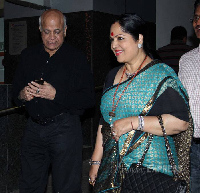 Shilpa was also accompanied by her parents Surendra and Sunanda Shetty. (Photo: Varinder Chawla)