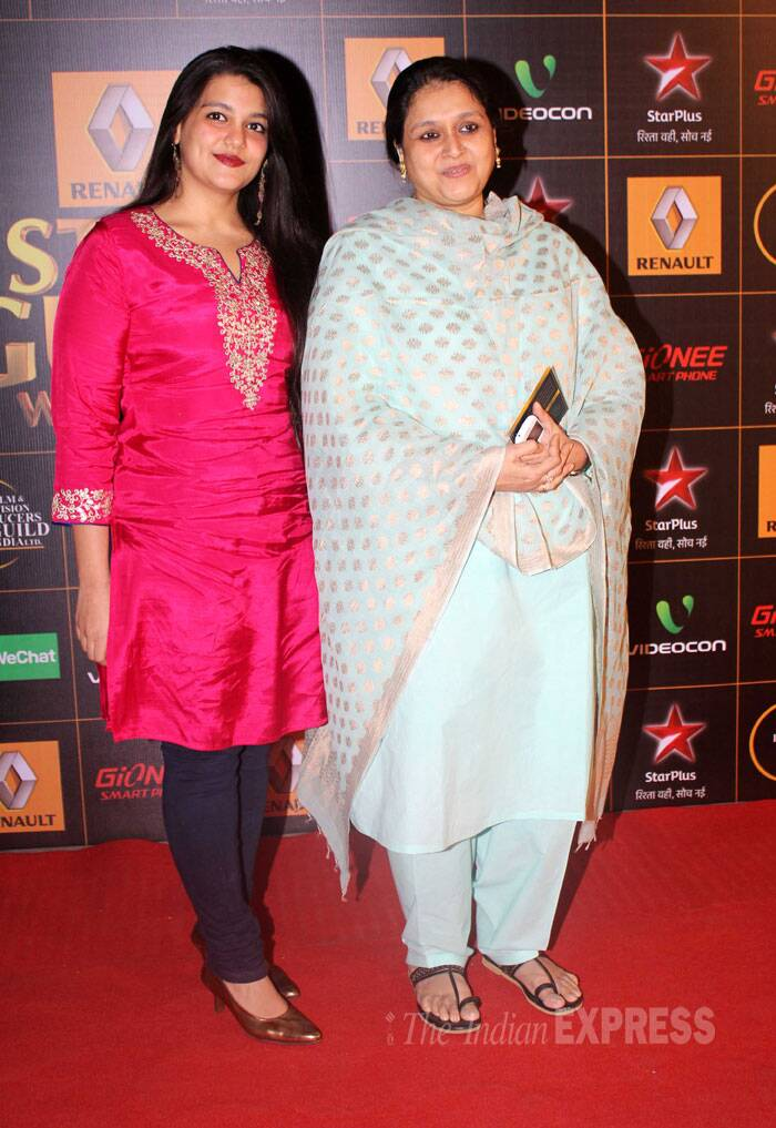 Shahid's stepmom Supriya Pathak Kapoor was also seen at the award show. (Photo: Varinder Chawla)