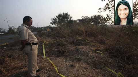 23-year-old Esther Anuhya's burnt body was found off the Eastern Express Highway on the outskirts of Mumbai. (IE Photo: Pradip Das)