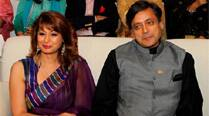 Shashi Tharoor with wife Sunanda Pushkar. (PTI)