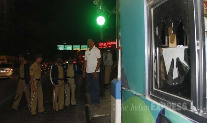 MNS activist vandalised Anand Nagar toll naka