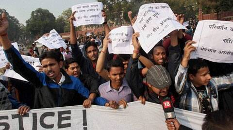 The aspirants are protesting against the structural and content changes made in the UPSC examination pattern. (File photo: PTI)