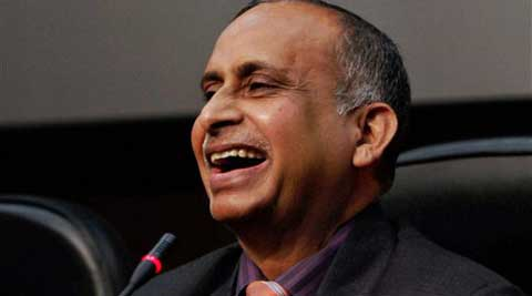 Diplomat Devyani Khobragade's father Uttam Khobragade at a press conference, after his daughter was indicted for visa fraud, in New Delhi on Friday.