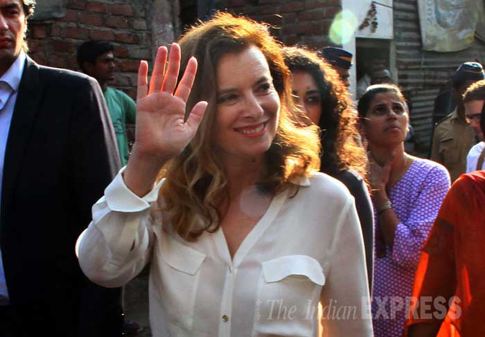 On Monday, she had visited sick children at the Sion children's hospital in Mumbai. (IE Photo: Amit Chakravarty)