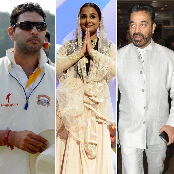 Vidya Balan, Kamal Haasan, Yuvraj Singh, Leander Paes honoured by government