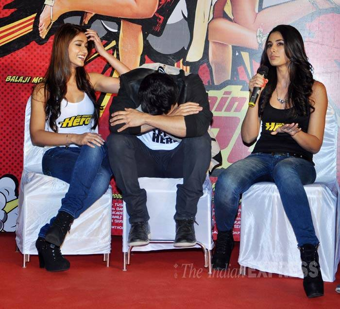 Varun takes a break from all the questions while the girls take over. (Photo: Varinder Chawla)