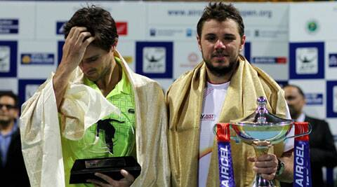 Stanislas Wawrinka beat the Frenchman 7-5 6-2 in the final that lasted an hour and 35 minutes (PTI)