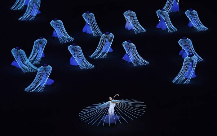 Artists put up their performances during the opening ceremony of the 2014 Winter Olympics in Sochi, Russia. (AP)
