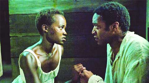 Chiwetel Ejiofor and Lupita Nyong'o in 12 years A Slave
