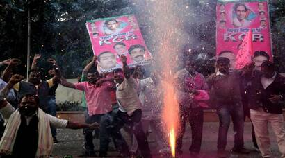 Telangana Bill crosses LS hurdle, celebrations begin