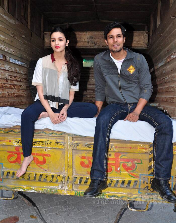 Alia and Randeep are ready to take a truck ride once again. (Photo: Varinder Chawla)