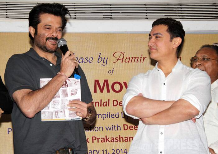 Aamir Khan and Anil Kapoor together on stage. (Photo: Varinder Chawla)