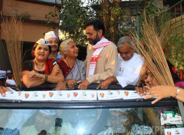 Yogendra Yadav launches AAP campaign in Maharashtra, hits out at Rahul, Modi