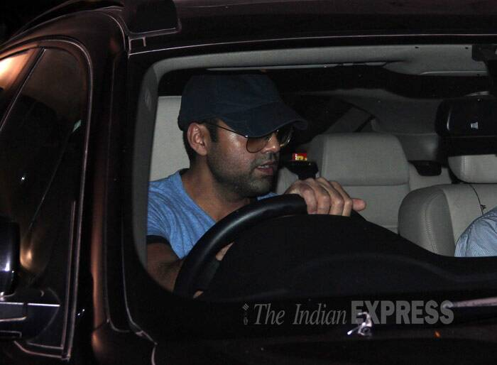 Abhay Deol makes a quick exit. (Photo: Varinder Chawla)