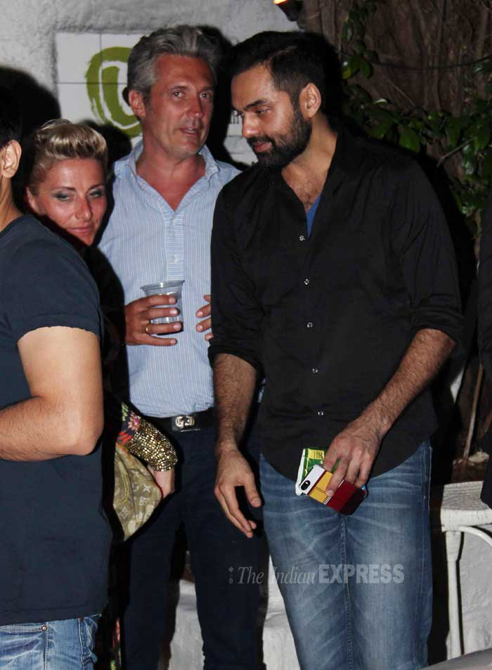 Bollywood actor Abhay Deol caught up with some friends in Mumbai's posh Olive Bar on Wednesday. (Photo: Varinder Chawla)