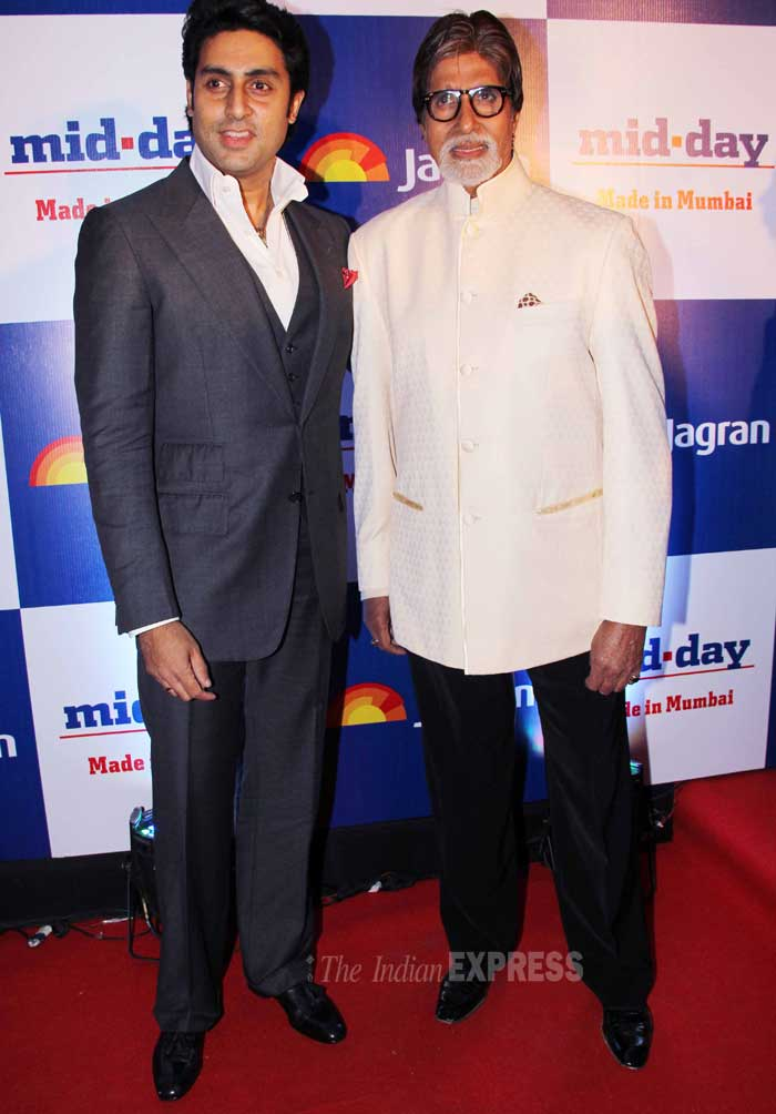 Bollywood megastar Amitabh Bachchan came to the event with his son Abhishek. The men were dapper in formals. (Photo: Varinder Chawla)