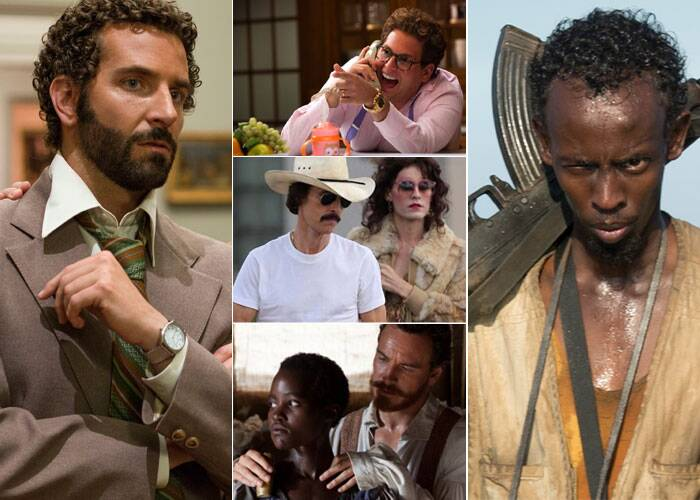 BEST ACTOR SUPPORTING ROLE<br /><br />Barkhad Abdi: Captain Phillips<br />Bradley Cooper: American Hustle<br />Michael Fassbender: 12 Years a Slave<br />Jonah Hill: The Wolf of Wall Street<br />Jared Leto: Dallas Buyers Club