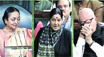 Left praises Advani; Shinde lauds Sushma