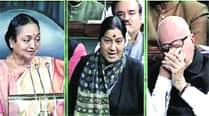 Left praises Advani; Shinde laudsSushma